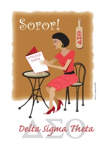 Greeting card: Delta Sigma Theta