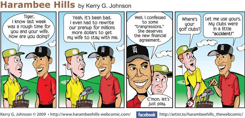 Comic strip of tiger woods