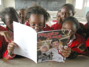 Kenya students read PhysicsQuest 2008