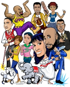 Black Greek Celebration by Caricatures by Kerry