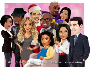 Best Man Holiday caricature